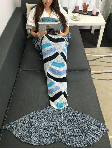 Best Super Soft Stripe Design Acrylic Knitted Mermaid Tail Blanket COLORMIX W31.50INCH*L70.70INCH