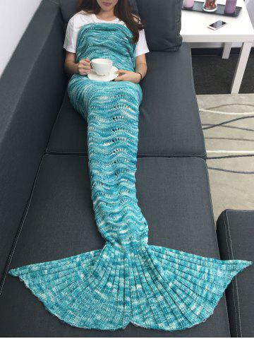 Shop Warmth Openwork Design Acrylic Knitted Mermaid Tail Blanket