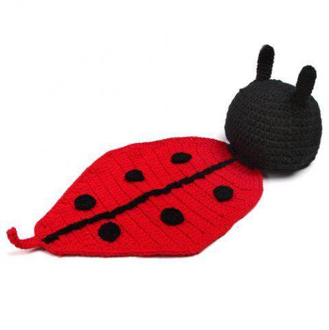 Fancy Newborn Baby Coccinella Septempunctata Shape Knitted Blanket Photography
