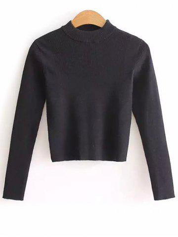 Shops High Neck Cropped Sweater