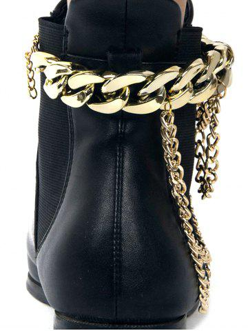 Best Chain Chunky Style Layered Boot Anket - GOLDEN  Mobile