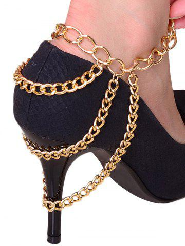 Chic Layered Heels Chain Boot Anklet