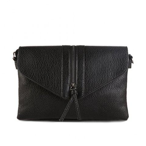 New Zip Textured PU Leather Crossbody Bag