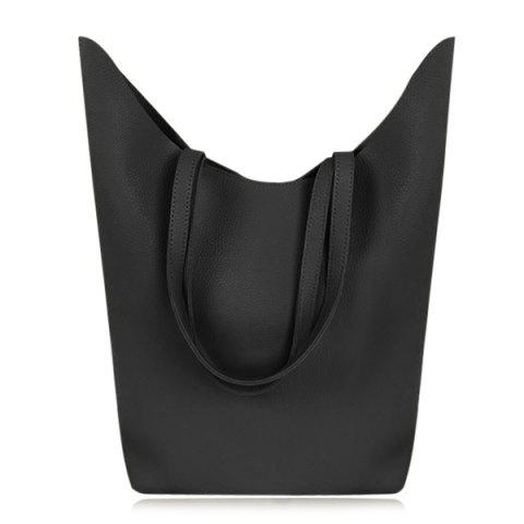Online Textured PU Leather Shoulder Bag