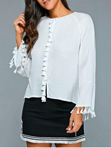 Sale Casual Round Neck Long Sleeve Blouse