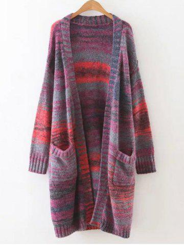 Outfits Colorful Stripe Casual Cardigan