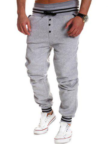 Best Varsity Striped Buttoned Drawstring Jogger Pants