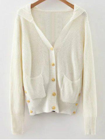Buy Buttoned Hooded Cardigan