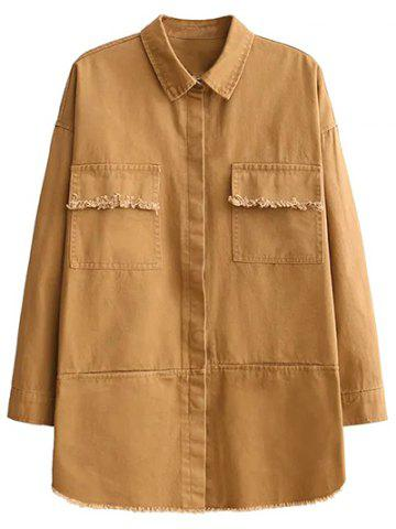 Sale Embroidered Overshirt YELLOW M