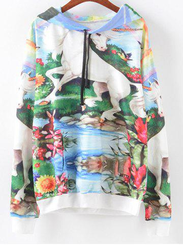 Outfits Scenery Print Hoodie COLORMIX XL
