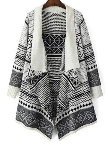 Shop Jacquard Knit Waterfall Cardigan