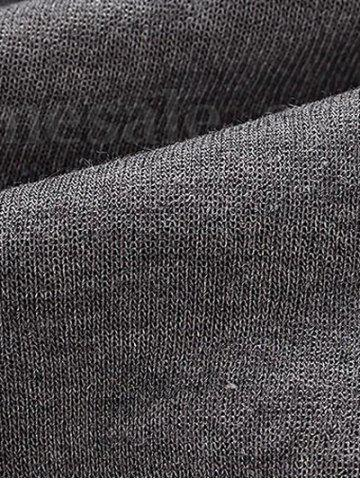 Sale Casual Pleated Insert Buttoned Jogger Pants - S DEEP GRAY Mobile