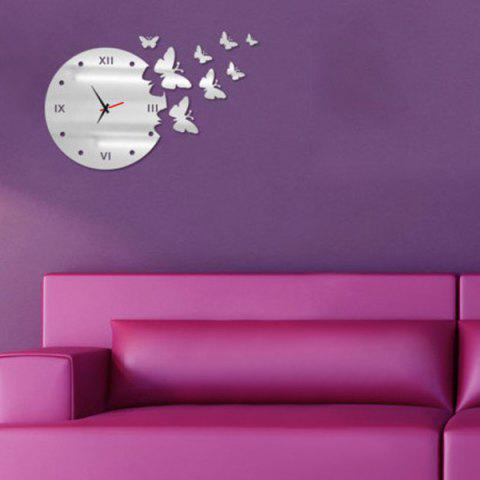 Cheap New Arrival Butterfly Design DIY Silent Wall Clock For Home Decor