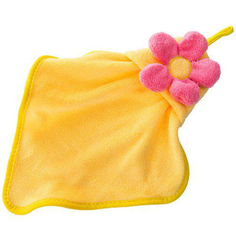 Chic Coral Fleece Floral Strong Absorbent Hanging Hands Towel