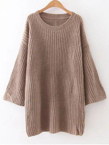 Store Relaxed Fit Long Sleeve Knitted Tunic Dress