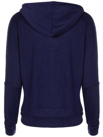 Christmas Snowflake Letter Print Dark Blue Hoodie от Rosegal.com INT