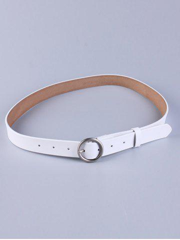 Shop All Match Round Pin Buckle Faux Leather Belt - WHITE  Mobile