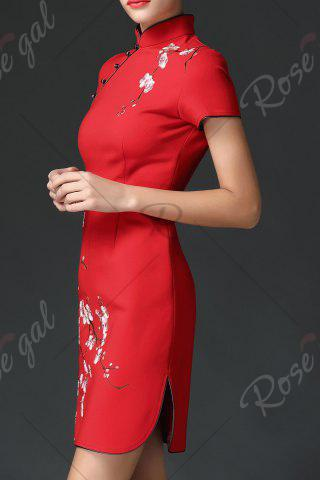 Discount Wedding Dress Mini Embroidered Cheongsam - XL RED Mobile