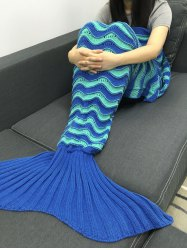 Warmth Crochet Knitted Openwork Design Mermaid Blanket -