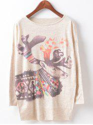 Loose Cute Printed Sweater