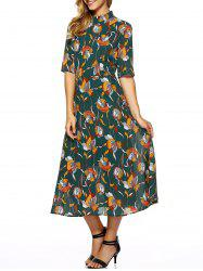 Printed Vintage Fit and Flare Dress