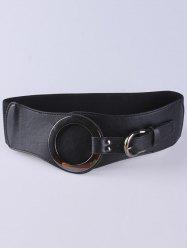 Hollow Hoop Pin Buckle Wide Elastic Belt