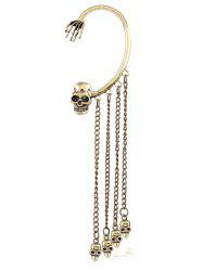 Punk Skull Chain Tassel Ear Cuff