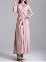String Ruched Maxi Dress -