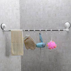 Rotatable Scalable Wall Mounted Suction Cup Stainless Steel Towel Rack -