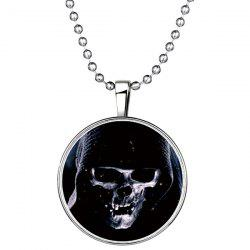 Devil Death Skull Pendant Halloween Necklace