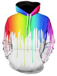 Multicolor Paint Dripping Long Sleeve Hoodie -