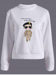 Cartoon Soldier Printed Sweatshirt -
