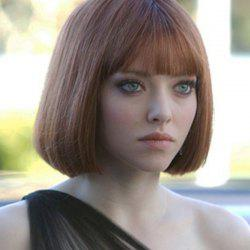 Short Straight Neat Bang Bob Synthetic Wig - GOLD BROWN
