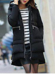 Hooded Puffer Coat - BLACK
