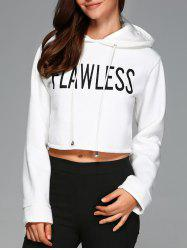 Hooded Letter Crop Top -