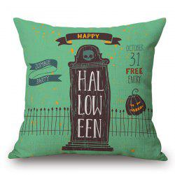 Sofa Cushion Skull House Halloween Pillow Case