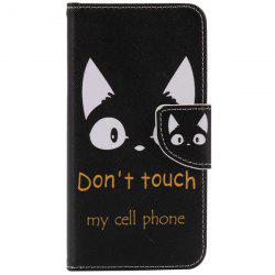 Cat Letter Pattern Wallet Phone Case For iPhone 7 Plus -