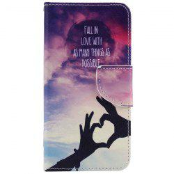 Wallet Design Love Heart Gesture Phone Case For iPhone 7 Plus -