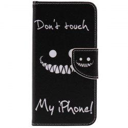 Teeth Letter PU Wallet Design Phone Case For iPhone 7 -