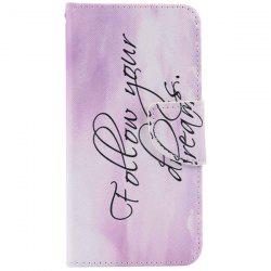 Letter Quote PU Wallet Design Phone Case For iPhone 7