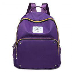 Zippers Rivets Nylon Backpack