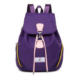 Nylon Drawstring Zippers Backpack -