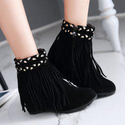 Fringe Suede Invisible Wedge Bottes -