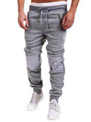 Zippered Insert Drawstring Jogger Pants