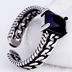 Hollowed Rhinestone Open Ring -