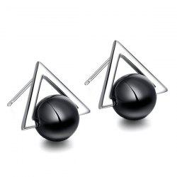Pair of Triangle Stud Earrings