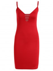 Cutout Fitted Midi Slip Dress