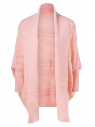 Bat Sleeve Shawl Collar Cardigan -