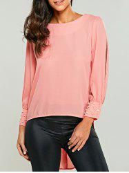 Split Sleeve Chiffon Blouse