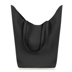 Textured PU Leather Shoulder Bag -